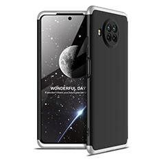 Handyhülle Hülle Hartschalen Kunststoff Schutzhülle Tasche Matt Vorder und Rückseite 360 Grad Ganzkörper für Xiaomi Mi 10T Lite 5G Silber und Schwarz