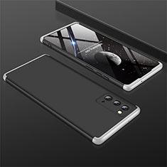 Handyhülle Hülle Hartschalen Kunststoff Schutzhülle Tasche Matt Vorder und Rückseite 360 Grad Ganzkörper M01 für Samsung Galaxy Note 20 5G Silber und Schwarz