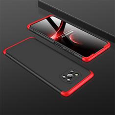 Handyhülle Hülle Hartschalen Kunststoff Schutzhülle Tasche Matt Vorder und Rückseite 360 Grad Ganzkörper M01 für Xiaomi Poco X3 NFC Rot und Schwarz