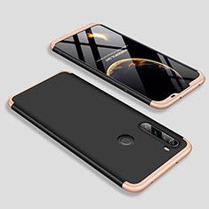 Handyhülle Hülle Hartschalen Kunststoff Schutzhülle Tasche Matt Vorder und Rückseite 360 Grad Ganzkörper M01 für Xiaomi Redmi Note 8 Gold und Schwarz