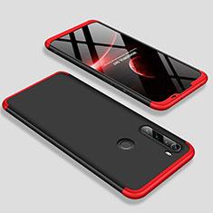 Handyhülle Hülle Hartschalen Kunststoff Schutzhülle Tasche Matt Vorder und Rückseite 360 Grad Ganzkörper M01 für Xiaomi Redmi Note 8 Rot und Schwarz