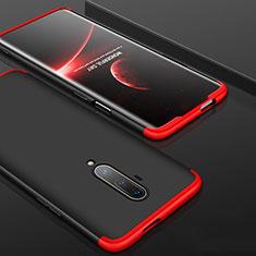 Handyhülle Hülle Hartschalen Kunststoff Schutzhülle Tasche Matt Vorder und Rückseite 360 Grad Ganzkörper P01 für OnePlus 7T Pro Rot und Schwarz