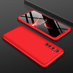 Handyhülle Hülle Hartschalen Kunststoff Schutzhülle Tasche Matt Vorder und Rückseite 360 Grad Ganzkörper P01 für Realme X50 Pro 5G Rot