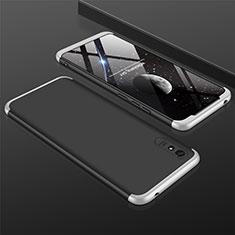Handyhülle Hülle Hartschalen Kunststoff Schutzhülle Tasche Matt Vorder und Rückseite 360 Grad Ganzkörper P03 für Xiaomi Redmi 9A Silber und Schwarz
