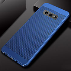 Handyhülle Hülle Kunststoff Hartschalen Schutzhülle Punkte Loch Tasche W01 für Samsung Galaxy S10e Blau
