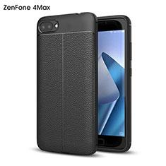 Handyhülle Hülle Kunststoff Schutzhülle Leder für Asus Zenfone 4 Max ZC554KL Schwarz