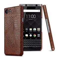 Handyhülle Hülle Kunststoff Schutzhülle Leder für Blackberry KEYone Braun