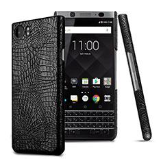 Handyhülle Hülle Kunststoff Schutzhülle Leder für Blackberry KEYone Schwarz