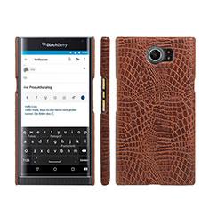 Handyhülle Hülle Kunststoff Schutzhülle Leder für Blackberry Priv Braun