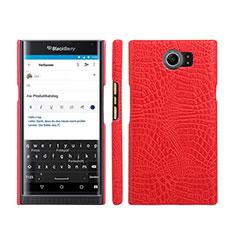 Handyhülle Hülle Kunststoff Schutzhülle Leder für Blackberry Priv Rot