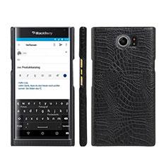 Handyhülle Hülle Kunststoff Schutzhülle Leder für Blackberry Priv Schwarz
