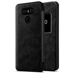 Handyhülle Hülle Kunststoff Schutzhülle Leder für LG G6 Schwarz