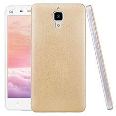Handyhülle Hülle Kunststoff Schutzhülle Leder für Xiaomi Mi 4 LTE Gold