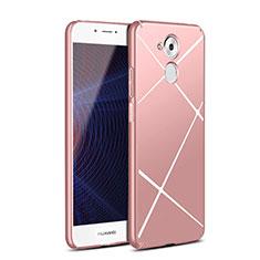 Handyhülle Hülle Kunststoff Schutzhülle Line für Huawei Enjoy 6S Rosegold