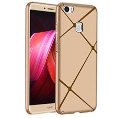 Handyhülle Hülle Kunststoff Schutzhülle Line für Huawei Honor V8 Max Gold