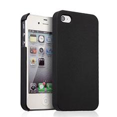 Handyhülle Hülle Kunststoff Schutzhülle Matt für Apple iPhone 4 Schwarz
