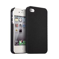 Handyhülle Hülle Kunststoff Schutzhülle Matt für Apple iPhone 4S Schwarz
