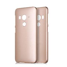 Handyhülle Hülle Kunststoff Schutzhülle Matt für HTC Butterfly 3 Gold