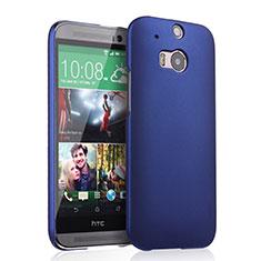 Handyhülle Hülle Kunststoff Schutzhülle Matt für HTC One M8 Blau