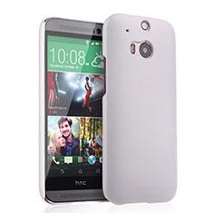 Handyhülle Hülle Kunststoff Schutzhülle Matt für HTC One M8 Weiß