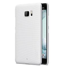 Handyhülle Hülle Kunststoff Schutzhülle Matt für HTC U Ultra Weiß