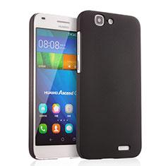 Handyhülle Hülle Kunststoff Schutzhülle Matt für Huawei Ascend G7 Schwarz