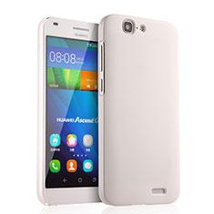 Handyhülle Hülle Kunststoff Schutzhülle Matt für Huawei Ascend G7 Weiß