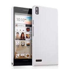 Handyhülle Hülle Kunststoff Schutzhülle Matt für Huawei Ascend P6 Weiß