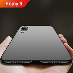 Handyhülle Hülle Kunststoff Schutzhülle Matt für Huawei Enjoy 9 Schwarz