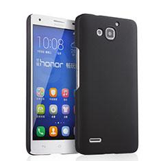 Handyhülle Hülle Kunststoff Schutzhülle Matt für Huawei Honor 3X G750 Schwarz