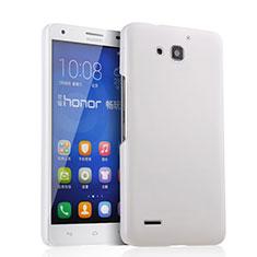 Handyhülle Hülle Kunststoff Schutzhülle Matt für Huawei Honor 3X G750 Weiß