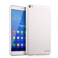 Handyhülle Hülle Kunststoff Schutzhülle Matt für Huawei MediaPad X2 Weiß