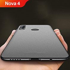 Handyhülle Hülle Kunststoff Schutzhülle Matt für Huawei Nova 4 Schwarz