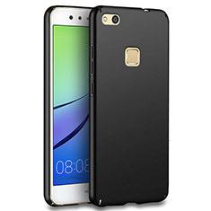 Handyhülle Hülle Kunststoff Schutzhülle Matt für Huawei P10 Lite Schwarz