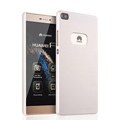 Handyhülle Hülle Kunststoff Schutzhülle Matt für Huawei P8 Weiß