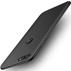 Handyhülle Hülle Kunststoff Schutzhülle Matt für Huawei Y7 (2018) Schwarz