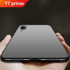 Handyhülle Hülle Kunststoff Schutzhülle Matt für Huawei Y7 Prime (2019) Schwarz