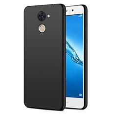 Handyhülle Hülle Kunststoff Schutzhülle Matt für Huawei Y7 Prime Schwarz