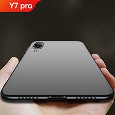 Handyhülle Hülle Kunststoff Schutzhülle Matt für Huawei Y7 Pro (2019) Schwarz