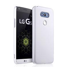 Handyhülle Hülle Kunststoff Schutzhülle Matt für LG G5 Weiß