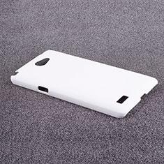 Handyhülle Hülle Kunststoff Schutzhülle Matt für LG L Bello 2 Weiß