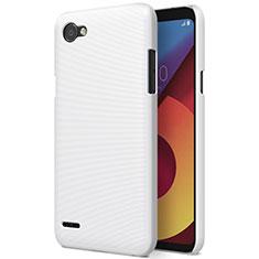 Handyhülle Hülle Kunststoff Schutzhülle Matt für LG Q6 Weiß