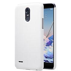 Handyhülle Hülle Kunststoff Schutzhülle Matt für LG Stylus 3 Weiß