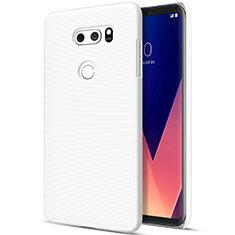 Handyhülle Hülle Kunststoff Schutzhülle Matt für LG V30 Weiß