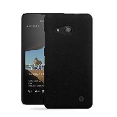 Handyhülle Hülle Kunststoff Schutzhülle Matt für Microsoft Lumia 550 Schwarz
