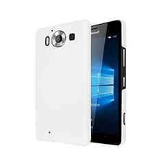 Handyhülle Hülle Kunststoff Schutzhülle Matt für Microsoft Lumia 950 Weiß