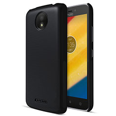 Handyhülle Hülle Kunststoff Schutzhülle Matt für Motorola Moto C Plus Schwarz
