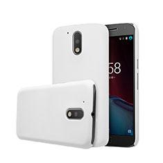 Handyhülle Hülle Kunststoff Schutzhülle Matt für Motorola Moto G4 Plus Weiß