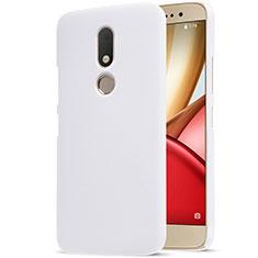 Handyhülle Hülle Kunststoff Schutzhülle Matt für Motorola Moto M XT1662 Weiß