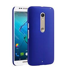 Handyhülle Hülle Kunststoff Schutzhülle Matt für Motorola Moto X Style Blau